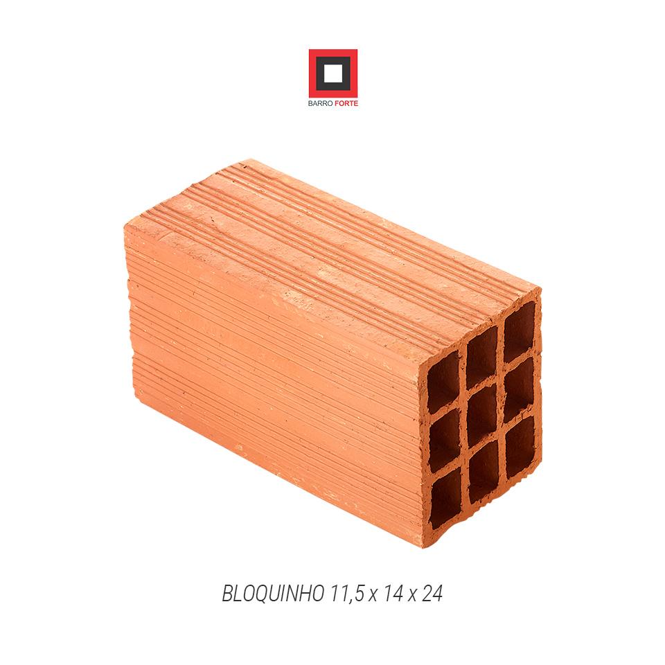 Bloquinho 11,5x14x24 - Cerâmica Barro Forte