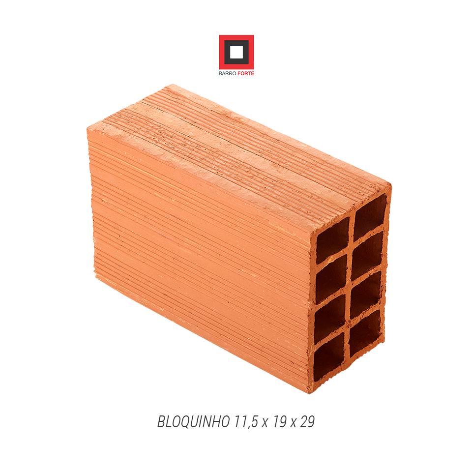 Bloquinho 11,5x19x29 - Cerâmica Barro Forte