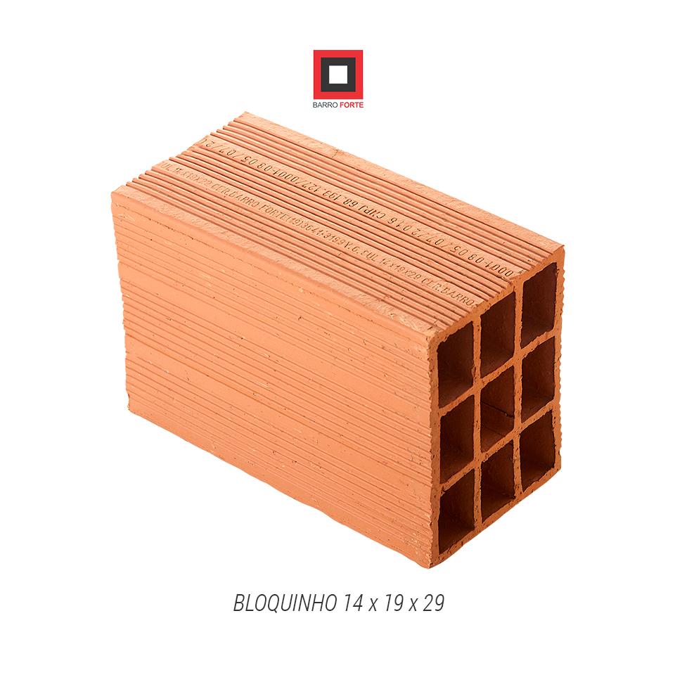 Bloquinho 14x19x29 - Cerâmica Barro Forte