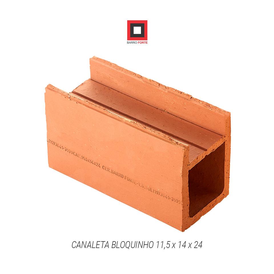 Canaleta Bloquinho 11,5x14x24 - Cerâmica Barro Forte