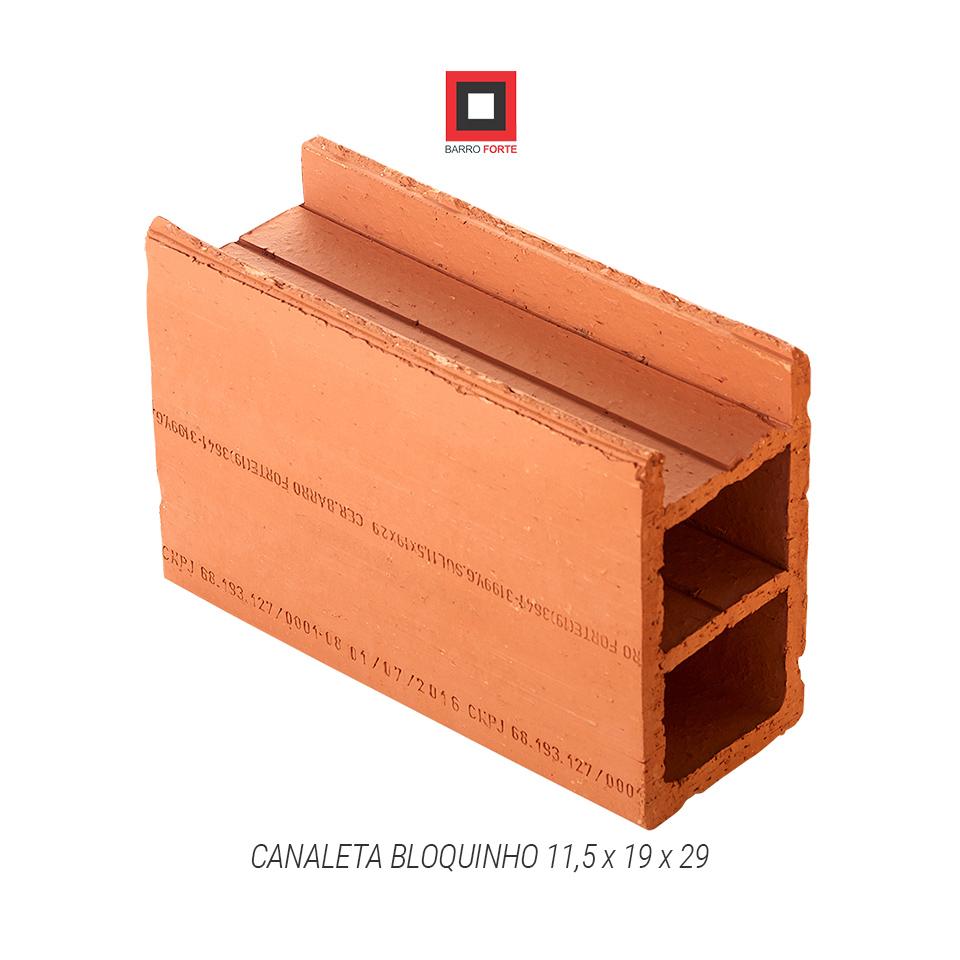 Canaleta Bloquinho 11,5x19x29 - Cerâmica Barro Forte