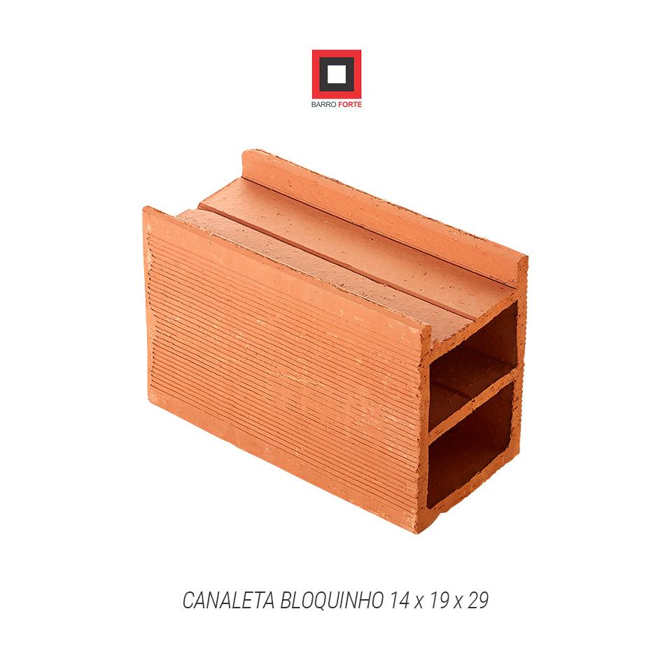 Canaleta Bloquinho 14x19x29 - Cerâmica Barro Forte