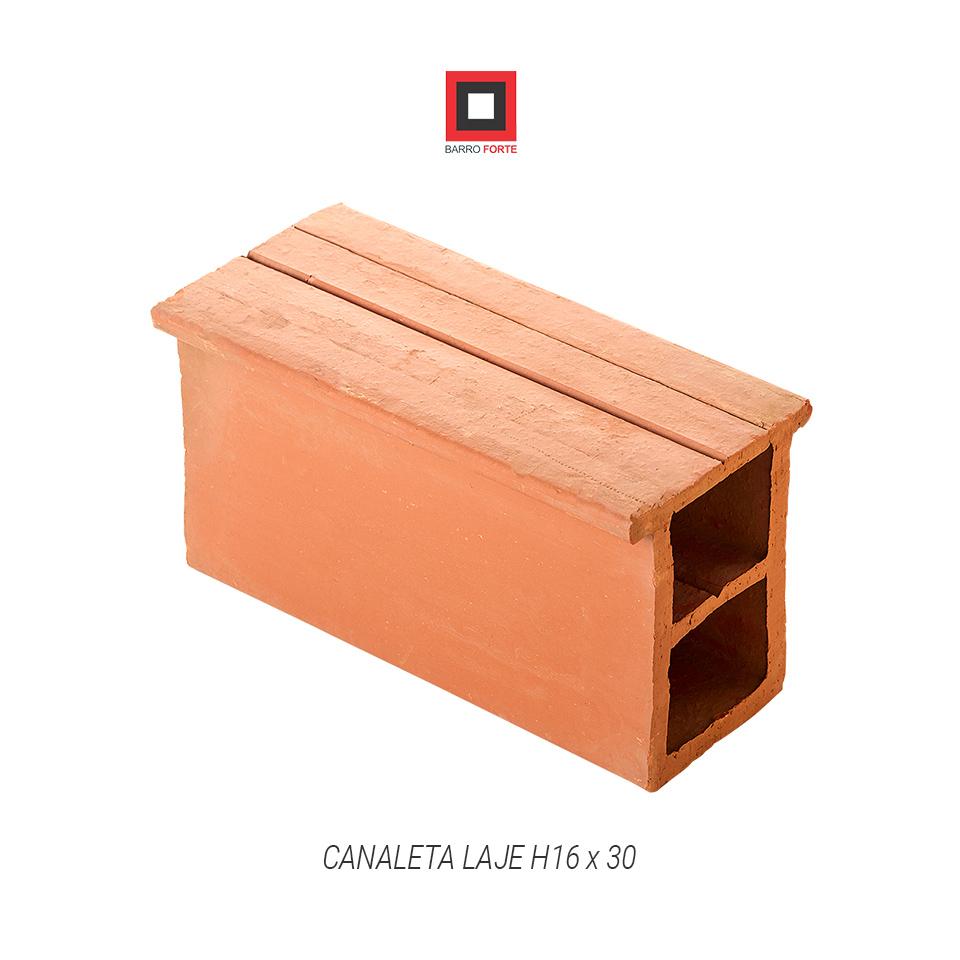 Canaleta Laje H16x30 - Cerâmica Barro Forte
