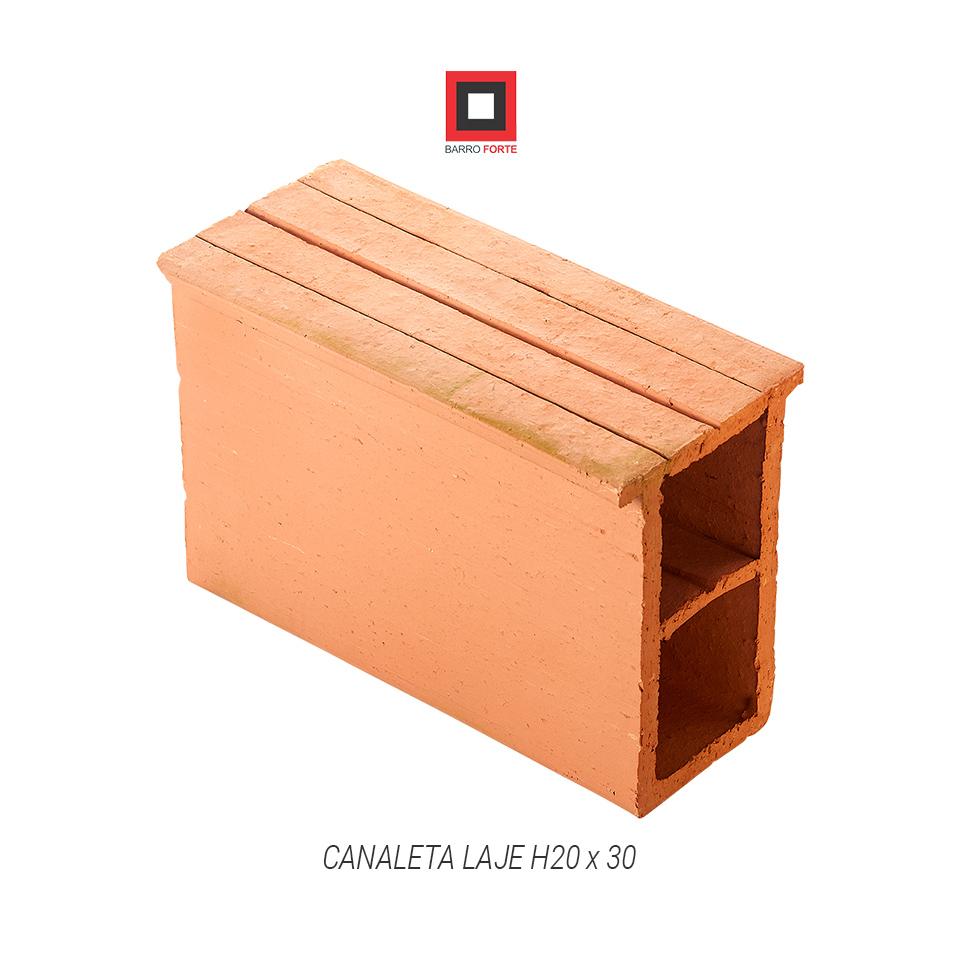 Canaleta Laje H20x30 - Cerâmica Barro Forte
