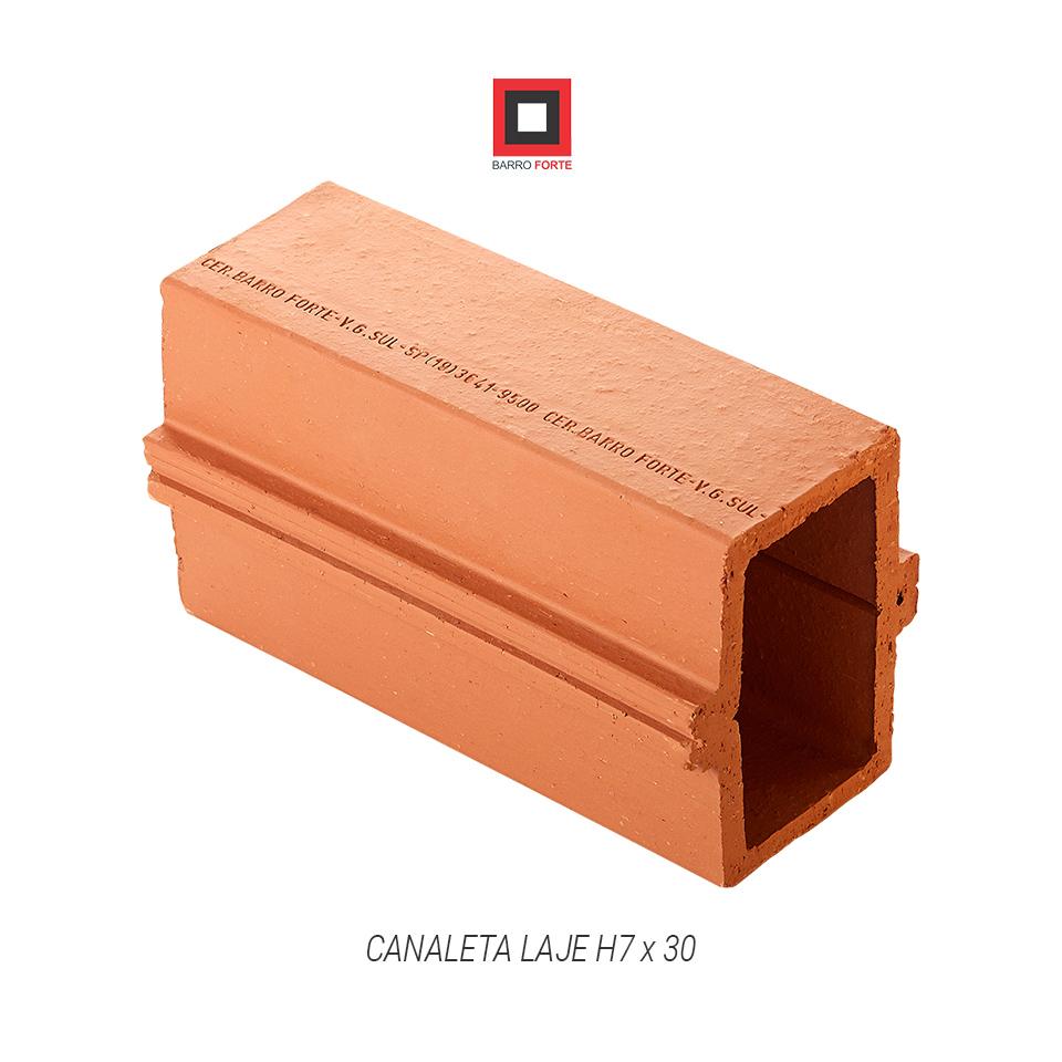 Canaleta Laje H7x30 - Cerâmica Barro Forte
