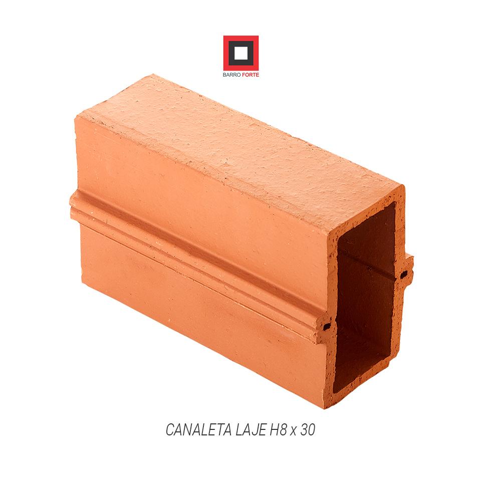 Canaleta Laje H8x30 - Cerâmica Barro Forte
