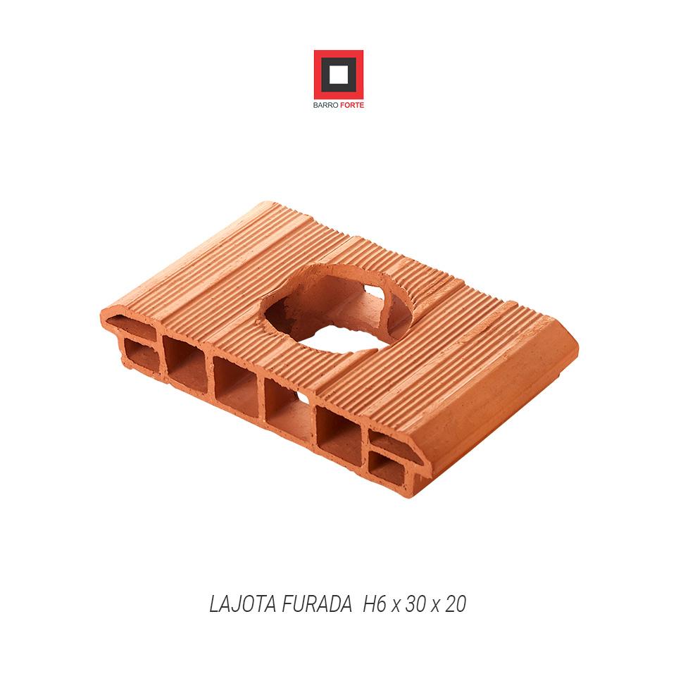 Lajota Furada H6x30x20 - Cerâmica Barro Forte