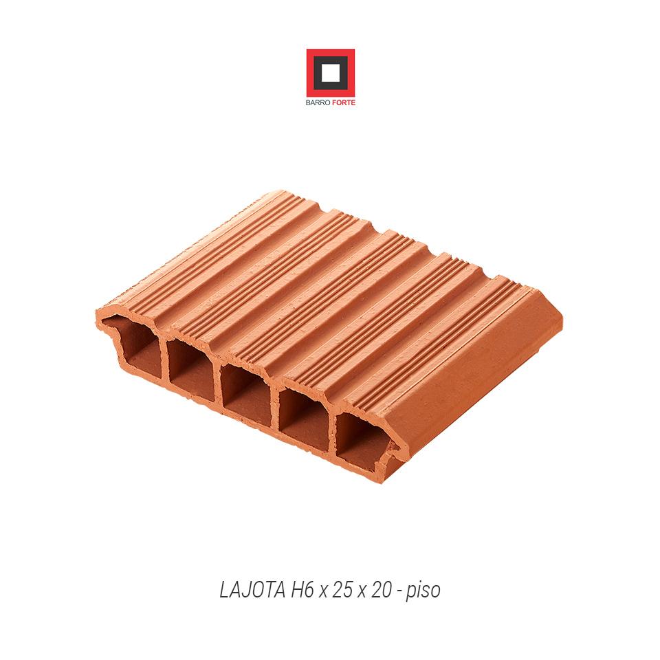 Lajota H6x25x20-piso - Cerâmica Barro Forte