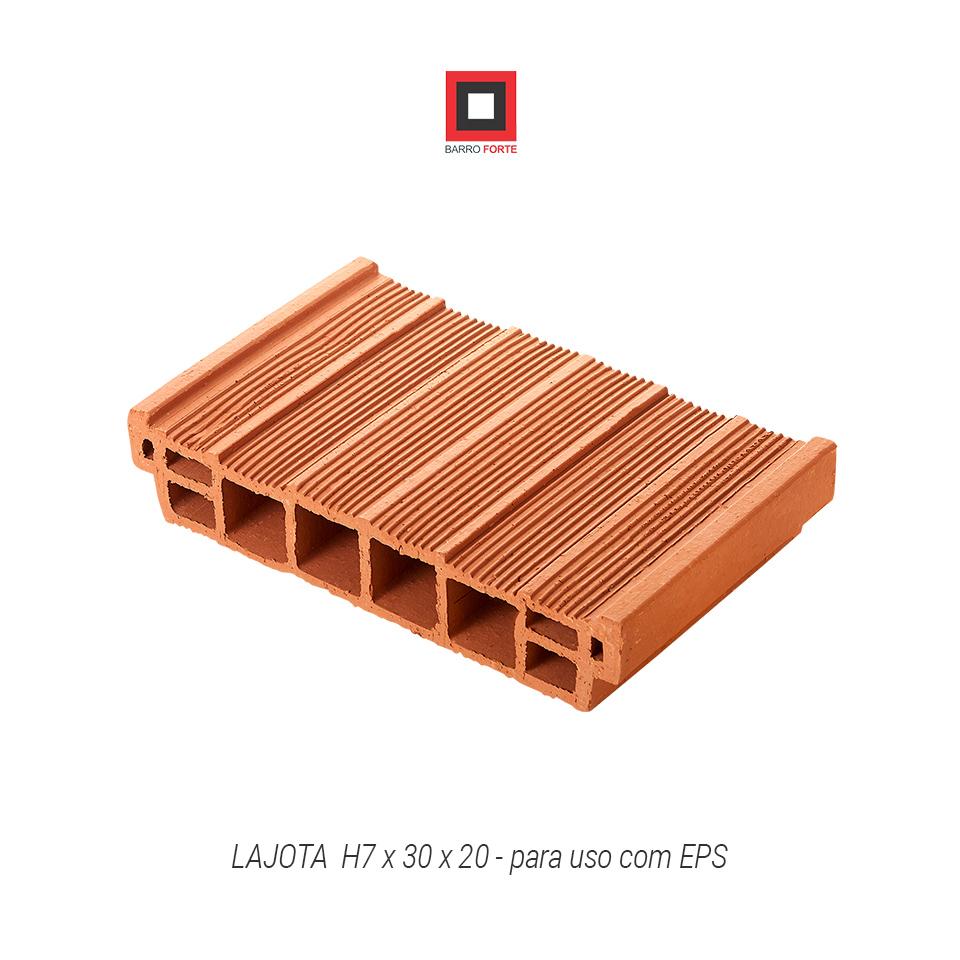 Lajota H7x30x20 EPS - Cerâmica Barro Forte