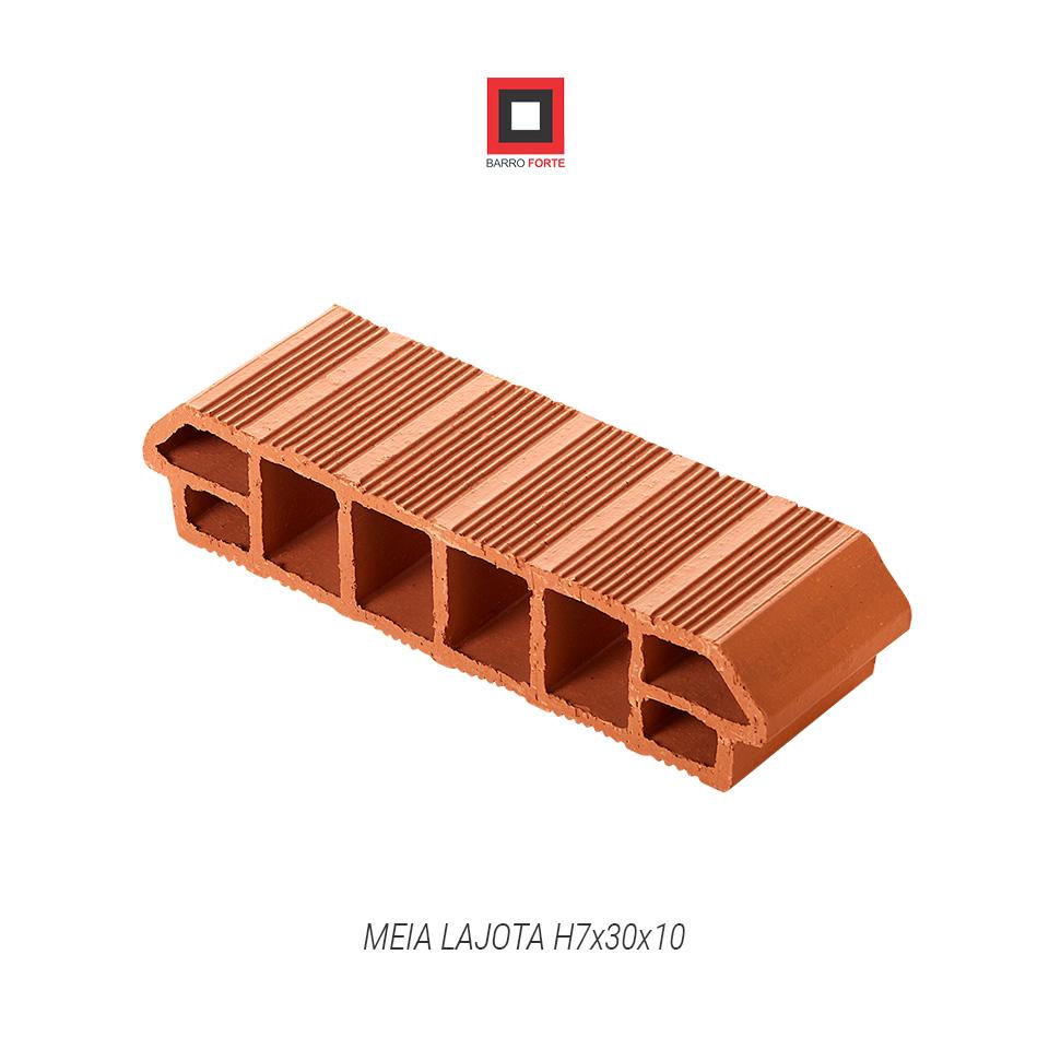Meia Lajota H7x30x10 - Cerâmica Barro Forte